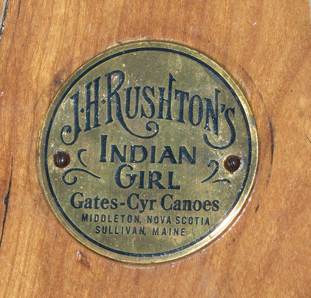 Gates-Cyr Canoes Indian Girl Medallion